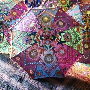 Accessories - Embroidered parasol from India.